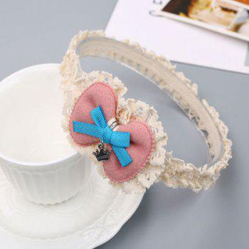 Korean Edition Bow-Tie Children Hair Band -  PINK