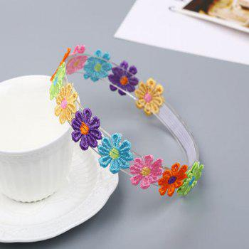 Colorful Petal Child Hair Band - WHITE