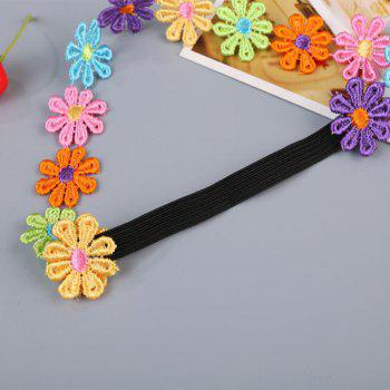 Colorful Petal Child Hair Band - BLACK