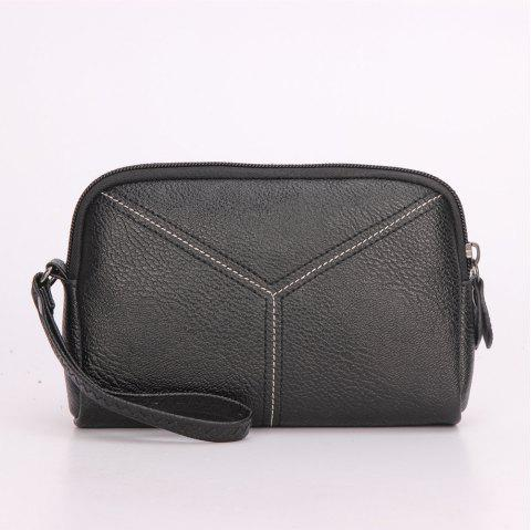 Women Wristlets bag matual function small Bag  Wrist Dumpling Envelope Bag - BLACK