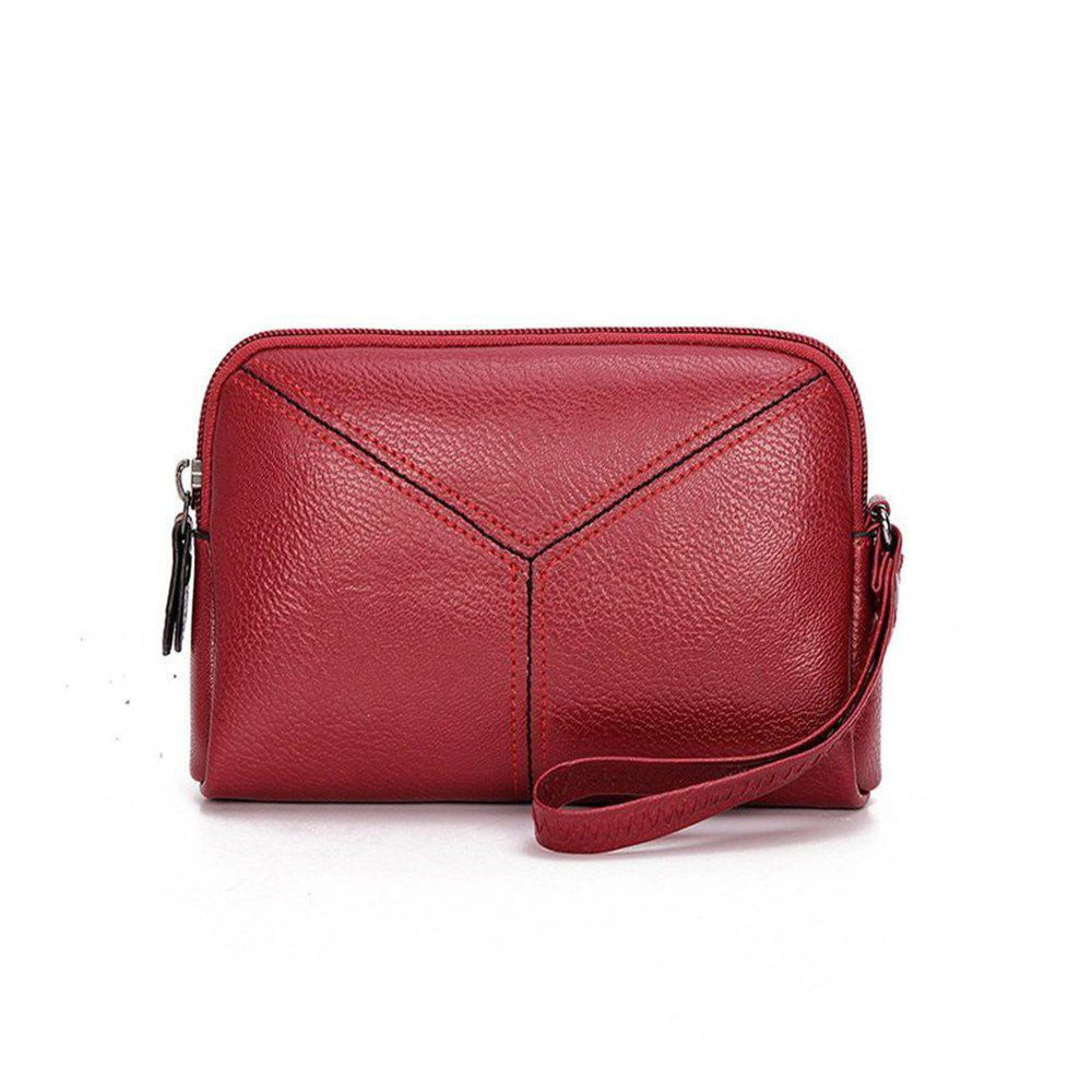 Women Wristlets bag matual function small Bag  Wrist Dumpling Envelope Bag - RED