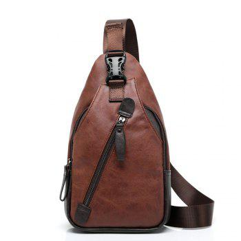 Shoulder Messenger Bag Fashion Trend - BROWN BROWN