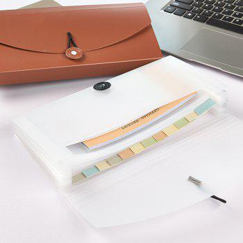 Simple Multi-Layer Paper Invoice Receipt Postcard Collection of Multi-Functional Organ Bag - CLEAR WHITE 26X14.7X3.2CM