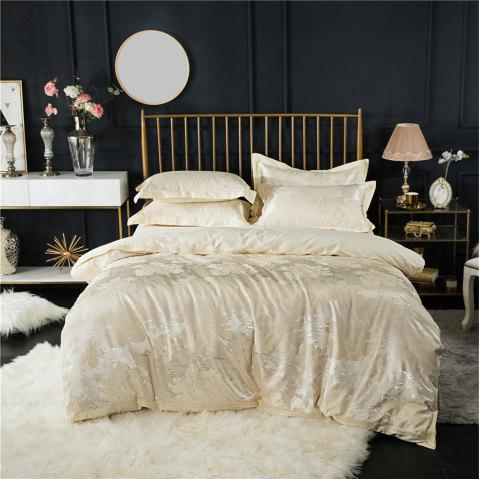 2018 New Bedding Sets Full Queen Size Cotton Satin Jacquard Duvet Cover Set MDQ - PALOMINO QUEEN