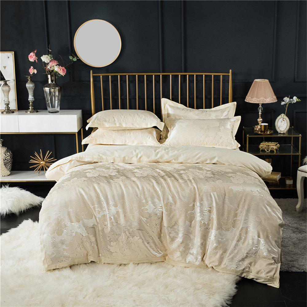 2018 New Bedding Sets Full Queen Size Cotton Satin Jacquard Duvet Cover Set MDQ - PALOMINO FULL
