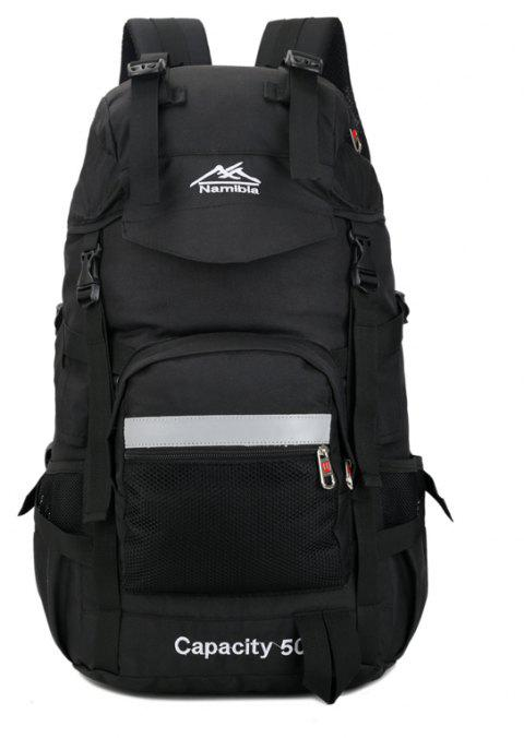 Big Fashion Travel  Backpack - BLACK