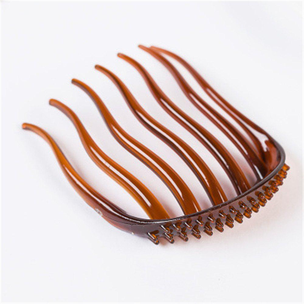 Women Fashion Hair Styling Clip Comb Stick Bun Maker Braid Tool Hair - BROWNIE