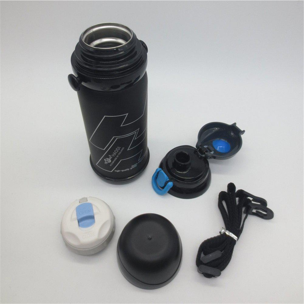 800 Ml Stainless Steel Insulated Thermos Bottle Sports Thermal Vaccum Water Bottle - BLACK