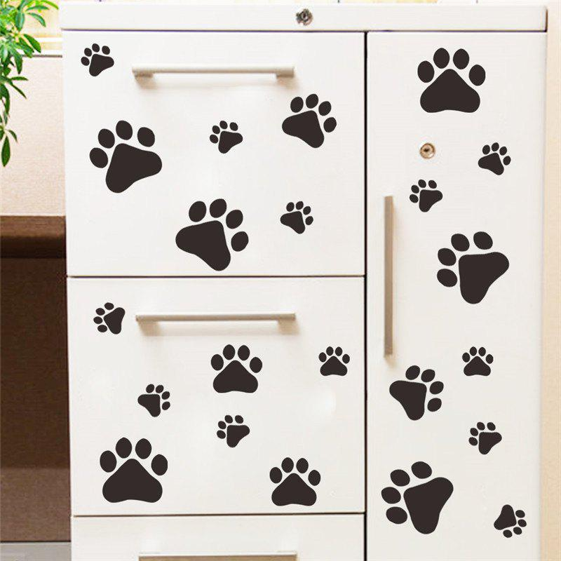 Funny Dog Cat Paw Vinyl Prints for Kids Room Home Decal Wall Stickers DIY Cabinet Door Food Dish Kitchen Bowl Sticker 3m gold silvery brush pvc decorative vinyl self adhesive wallpaper household appliances kitchen cabinet wall stickers home decor