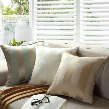 GyroHome Pack of 2 Cotton Jacquard Strips Cushion Covers  Pillow Three Colors 18 X 18 Inches - GOLD GOLD