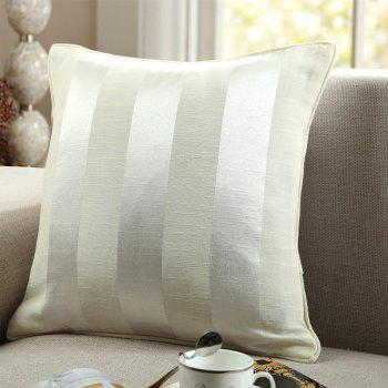 GyroHome Pack of 2 Cotton Jacquard Strips Cushion Covers  Pillow Three Colors 18 X 18 Inches - GOLD