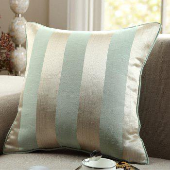 GyroHome Pack of 2 Cotton Jacquard Strips Cushion Covers  Pillow Three Colors 18 X 18 Inches - GREEN