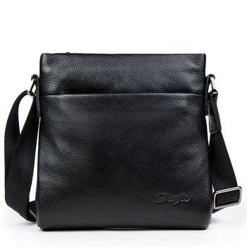 DANJUE Designer High Quality Genuine Leather Shoulder Bags For Men Real Cowhide Mini Messenger Crossbody Bags Business - BLACK BLACK