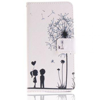 Cover Case for LG V30 Colourful Brackets PU Leather - BLUE/WHITE