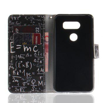 Cover Case for LG V30 Colourful Brackets PU Leather - BLACK