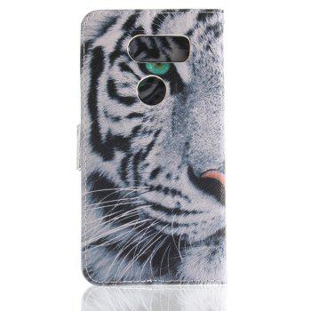Cover Case for LG V30 Colourful Brackets PU Leather - WHITE