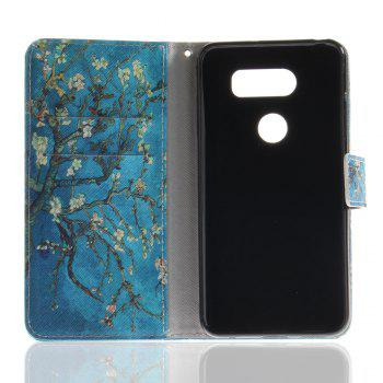 Cover Case for LG V30 Colourful Brackets PU Leather - BLUE