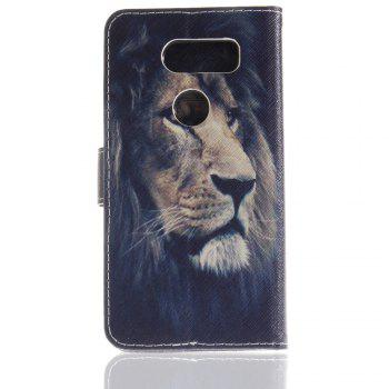 Cover Case for LG V30 Colourful Brackets PU Leather - DEEP BLUE