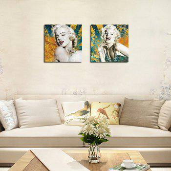 QiaoJiaHuaYuan There is No frame Canvas Living Room Sofa Background Double Couplet Painting Figure Marilyn Monroe - COLORMIX