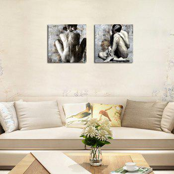 QiaoJiaHuaYuan No Frame Canvas Two Pieces of The Drawing Room Sofa Background Decorative Painting Naked Female Art pictu -  COLORMIX