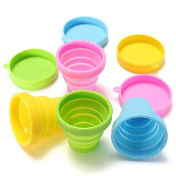 Drinking Glass Creative Portable Foldable Travel Tumbler Gargle Cup -  YELLOW