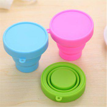 Drinking Glass Creative Portable Foldable Travel Tumbler Gargle Cup -  GREEN
