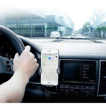 Minismile Universal Gravity Car Air Vent Outlet Stand Bracket Mount Holder for Mobile Phone ( 4-6.5 inch ) - SILVER/BLACK