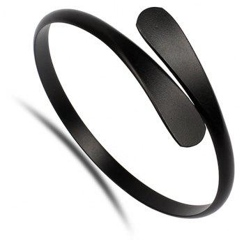 Fashion Simple Big-name Jewelry Smooth Open Copper Bracelet - BLACK