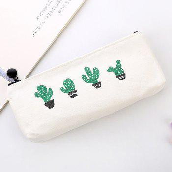Travel Makeup Cosmetic Cactus Case Wash Organizer Storage Cartoon Pencil Case - AS THE PICTURE C