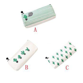 Travel Makeup Cosmetic Cactus Case Wash Organizer Storage Cartoon Pencil Case - AS THE PICTURE AS THE PICTURE