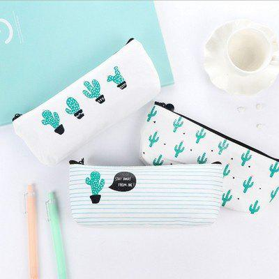 Travel Makeup Cosmetic Cactus Case Wash Organizer Storage Cartoon Pencil Case - AS THE PICTURE B