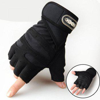 Wear-Resisting Training Men's Sports Fitness Half Refers To Outdoor Anti-Slip Gloves - BLACK 19X16CM