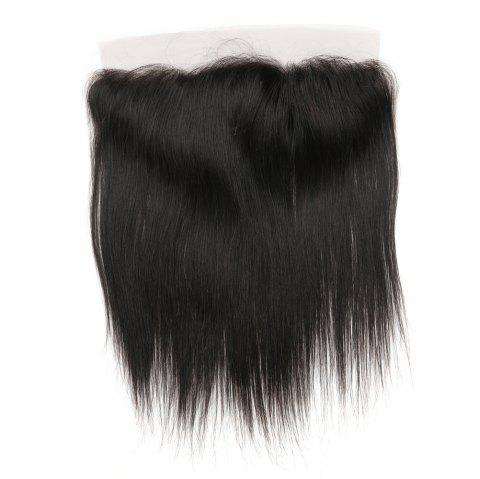 Rebecca RC0801 Brazilian Remy Hair Lace Frontal Closure Nature Straight 13 x 4 Closure - NATURAL BLACK 14INCH