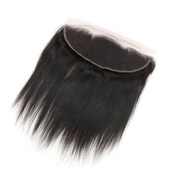 Rebecca RC0801 Brazilian Remy Hair Lace Frontal Closure Nature Straight 13 x 4 Closure - NATURAL BLACK 16INCH