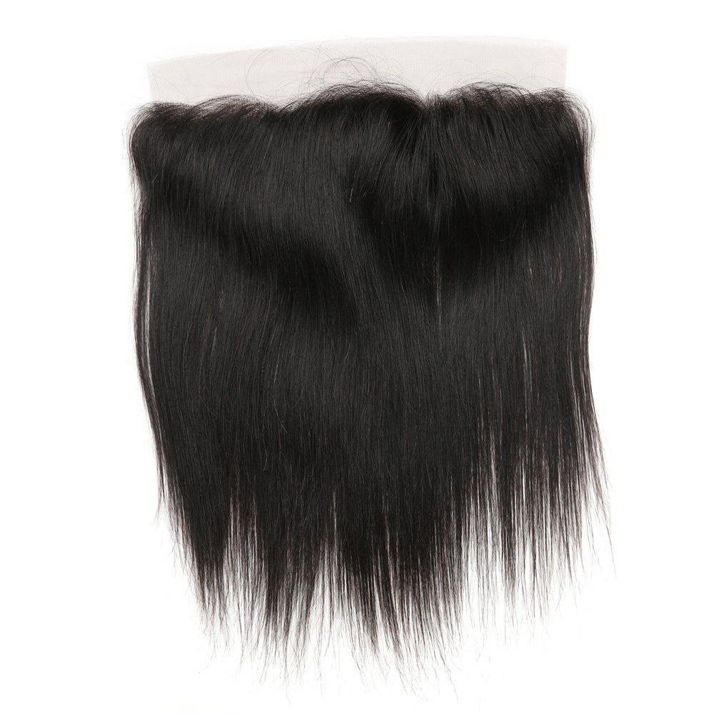 Rebecca RC0801 Brazilian Remy Hair Lace Frontal Closure Nature Straight 13 x 4 Closure - NATURAL BLACK 10INCH