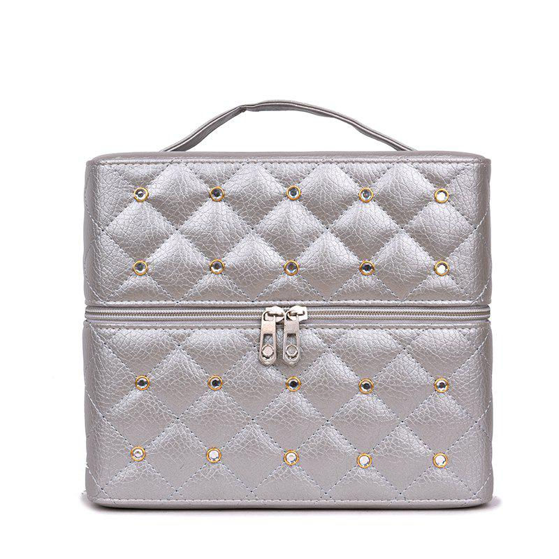 Multi-storey Cosmetic Bag Simple Portable Storage Box - SILVER