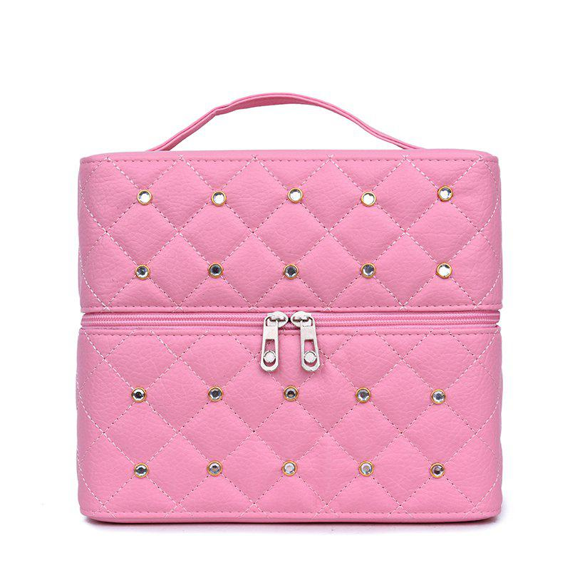 Multi-storey Cosmetic Bag Simple Portable Storage Box - PINK