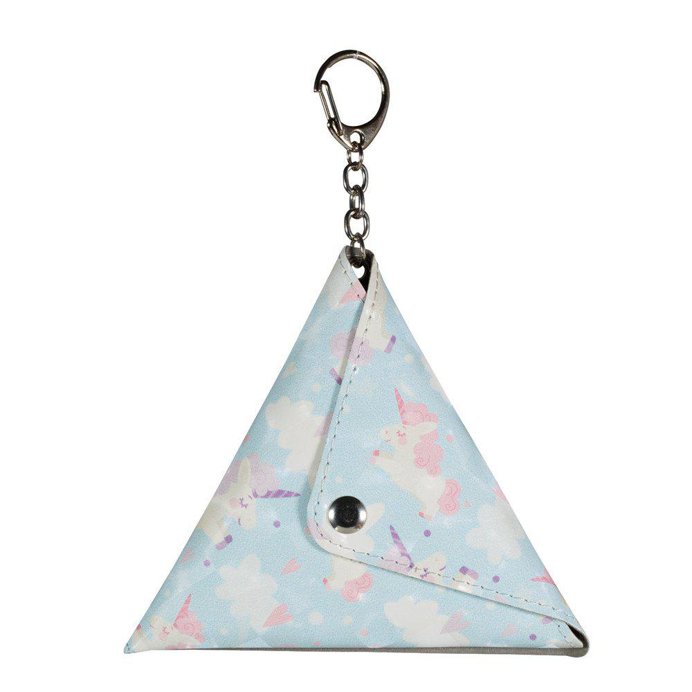Universal Packet Handmade Mini Coin Small Triangle Headphones Cable Purse With Key Chain PU Leather Small Bag ladies canvas classic small change coin purse little key car pouch money bag girl short coin holder wallet