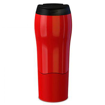 Mighty Magic Sucker Mug Travel Fall Over Gravity Cup - RED RED