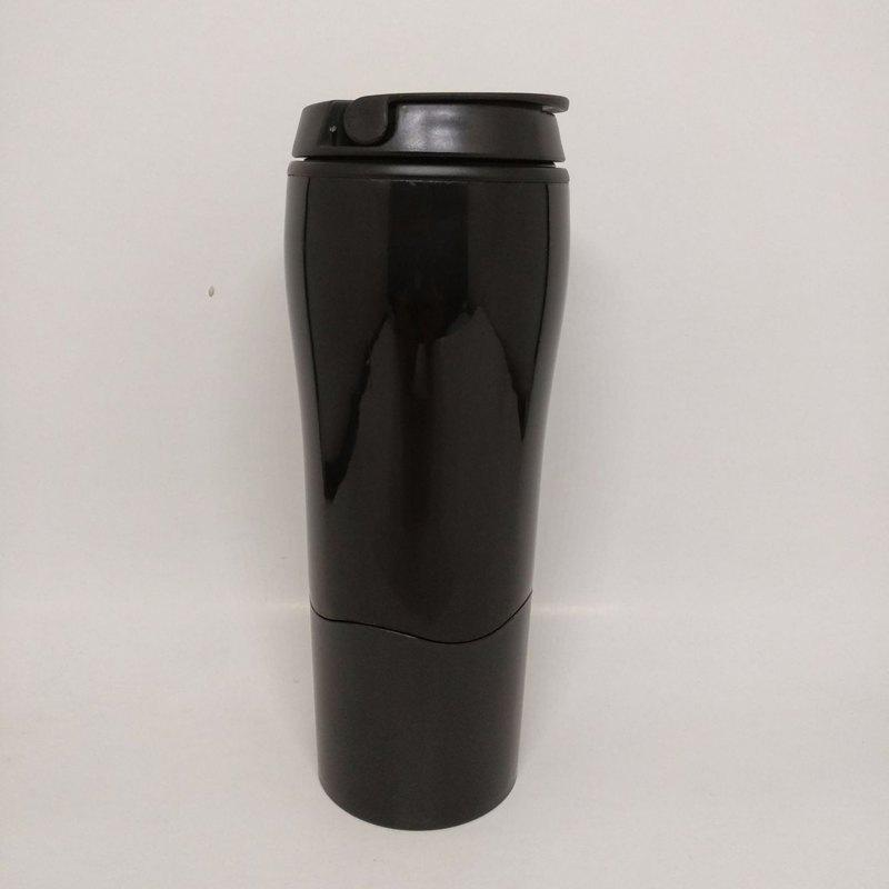 Mighty Magic Sucker Mug Travel Fall Over Gravity Cup - BLACK