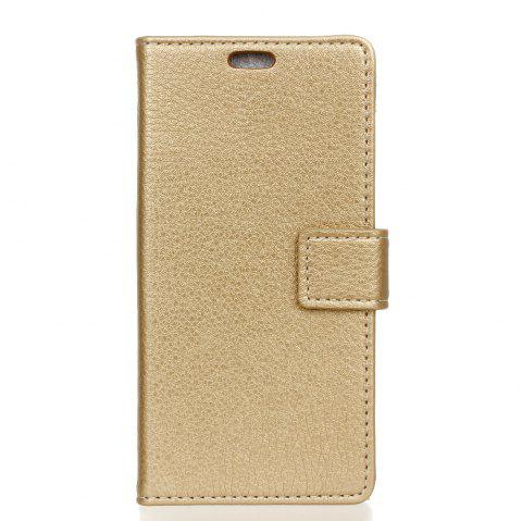 Housse de protection pour Doogee Shoot 1 Litchi Pattern PU Housse de protection en cuir - Or