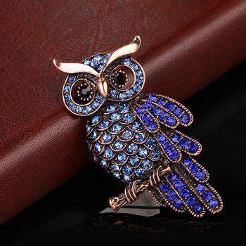 Women Girls Ornament Crystal Rhinestone Owl Brooch Pendants Fine Jewelry Gifts -  BLUE