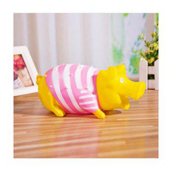 Stripes Pig Vacuum Vent Trick Funny Sounding Scream Toys - COLORMIX