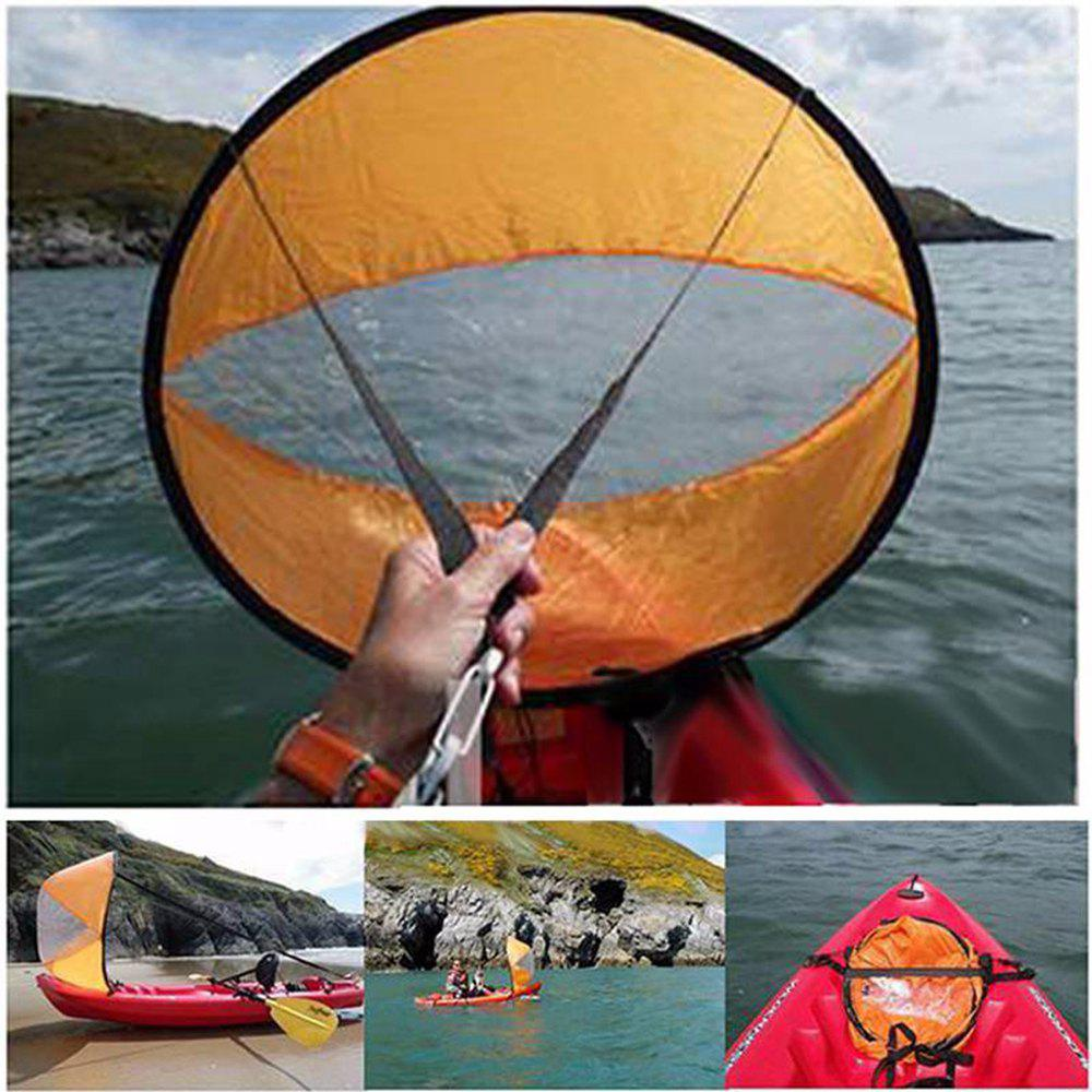 42inch Kayak for Fishing Sailing Boat Marine Wind Sup Paddle Board Sail with Clear Window - ORANGE