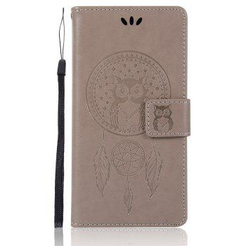 Owl Campanula Fashion Wallet Cover For Sony Xperia X Performance Case PU Flip Retro Leather Case Phone Bag With Stand - GRAY
