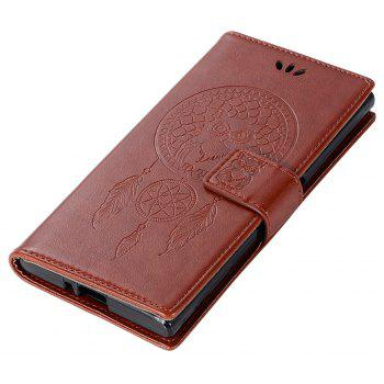 Owl Campanula Fashion Wallet Cover For Sony Xperia XZ / Sony XZs Case PU Flip Retro Leather Case Phone Bag With Stand - BROWN