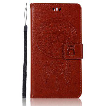 Owl Campanula Fashion Wallet Cover For Lenovo K5 Note / A7020 / K5 Note Pro Case PU Flip Leather Phone Bag With Stand - BROWN