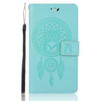 Owl Campanula Fashion Wallet Cover For Lenovo K5 Note / A7020 / K5 Note Pro Case PU Flip Leather Phone Bag With Stand - GREEN