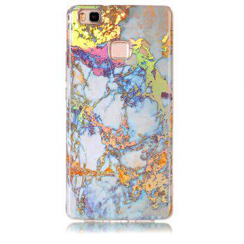 Fashion Color Plated Marble Phone Case For Huawei P9 Lite Case Cover Luxurious Soft TPU Full 360 Protection Phone Bag - GOLDEN