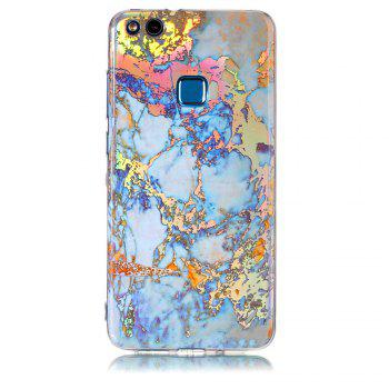 Fashion Color Plated Marble Phone Case For Huawei P10 Lite Case Cover Luxurious Soft TPU Full 360 Protection Phone Bag - GOLDEN